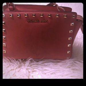 Peach studded MK Bag